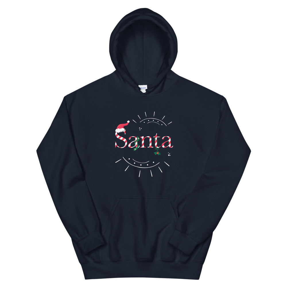 Limited Edition Santa Hoodie - Black Love Boutique