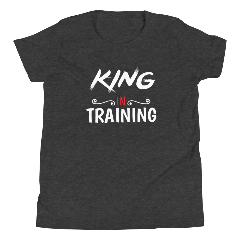 Limited Edition Youth King In Training Youth T-Shirt - Black Love Boutique