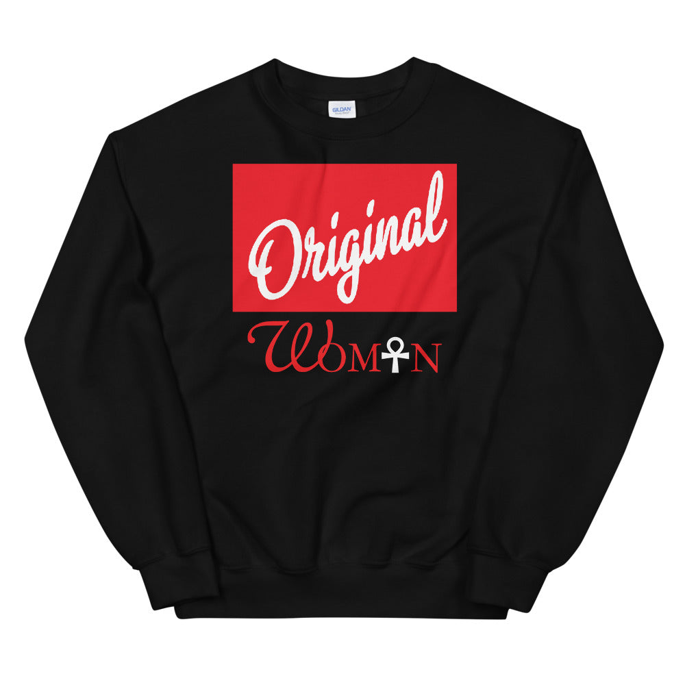 Limited Edition Red Block Original Woman Sweatshirt - Black Love Boutique