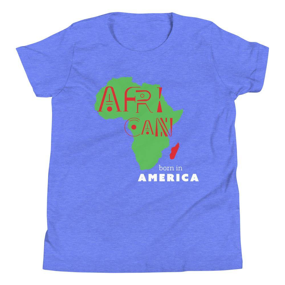 Limited Edition African Born In America Youth T-Shirt - Black Love Boutique
