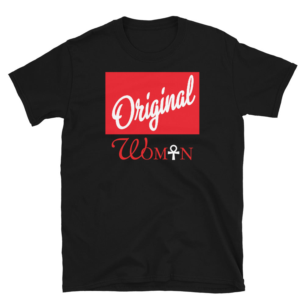 Limited Edition Red Block Original Woman T-Shirt - Black Love Boutique
