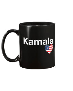 Limited Edition Kamala Heart 11oz Ceramic Mug - Black Love Boutique
