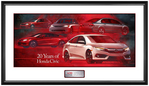 Honda Civic 20 years Anniversary-Framed poster