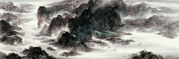 Mountains and Water Together Create the Beautiful Harmony 山水相依和谐美