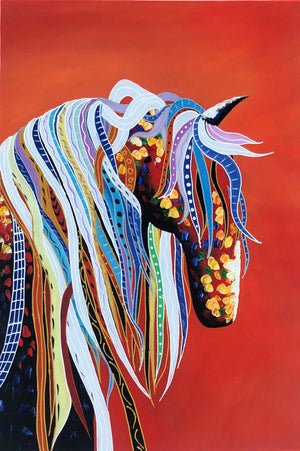 Coloured Horse 8