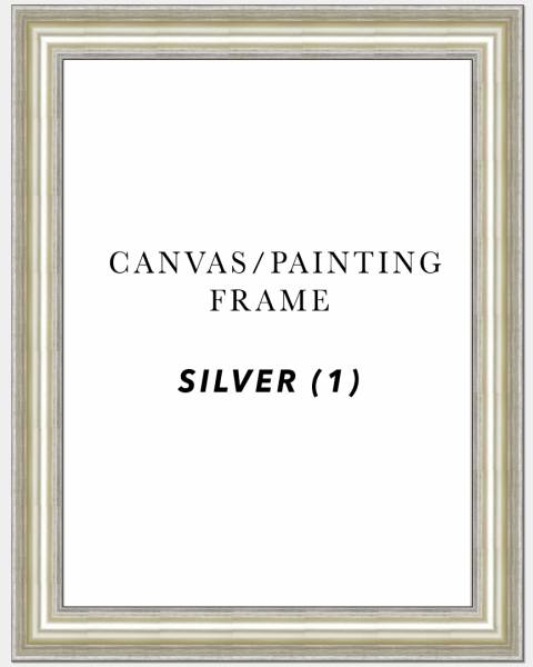"3"" Deep Silver Painting/Canvas Art Frame ( Silver 1)"