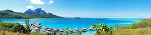 Panorama View of Bora Island, French Polynesia , south Pacific .