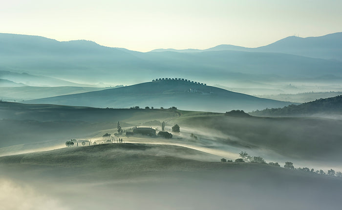 Morning Mountains of Tuscany