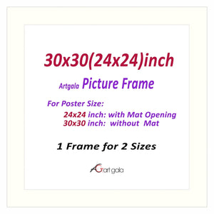 Picture Frame White 1""