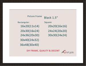 Picture Frame Black 1.5""