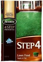 Scotts Step 4 Fall Lawn Food 5000SqFt Granular Bag