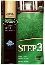 Scotts Step 3 Lawn Food With 2% Iron 15000SqFt Granular Bag