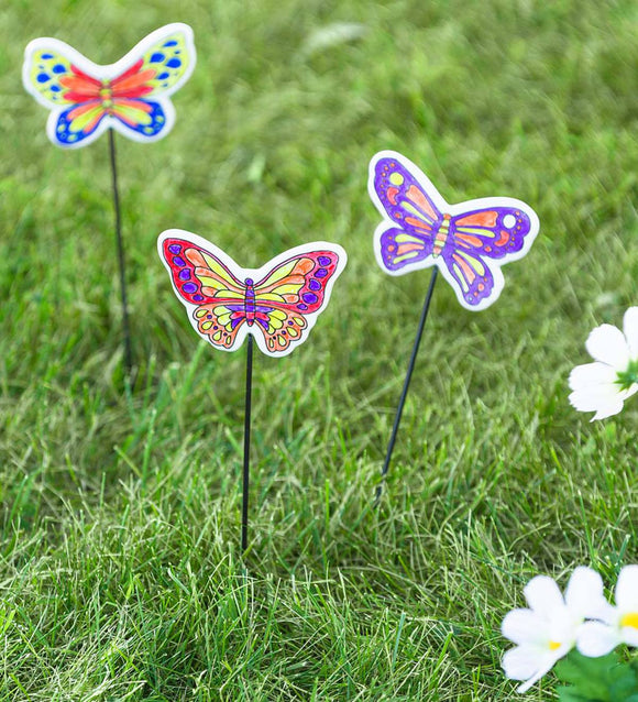 DIY Color Pop Butterfly Stakes