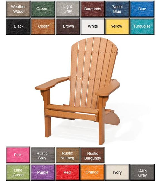 Adirondack Fanback Chair Yellow