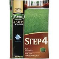 Scotts Step 4 Fall Lawn Food  15000SqFt Granular Bag