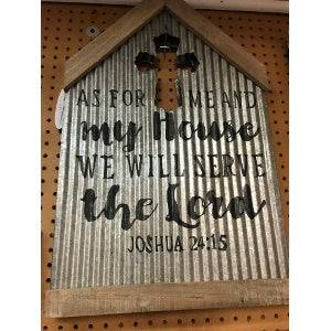 Corrugated Metal Sign - Serve the Lord