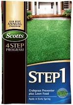 Scotts Step 1 Crabgrass Preventer Plus Lawn Food 5000SqFt Granular Bag