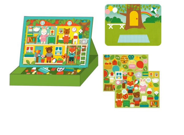 Petit Collage - Magnetic Play Scene, Treehouse Party