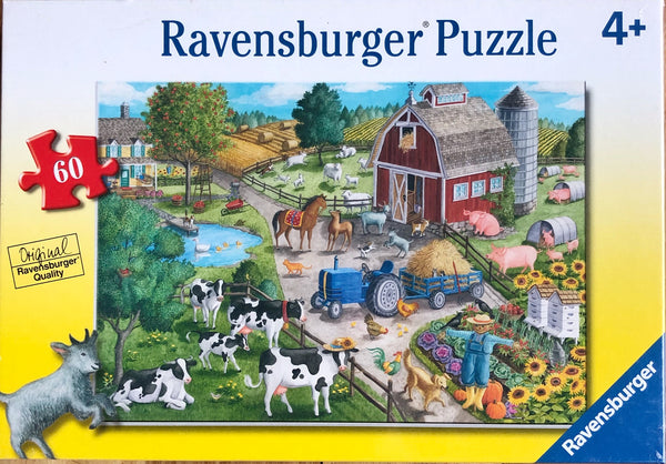 Detailed farm puzzle puzzle size 36 cm x 26 cm Made from sustainable material  Recommended age 4+