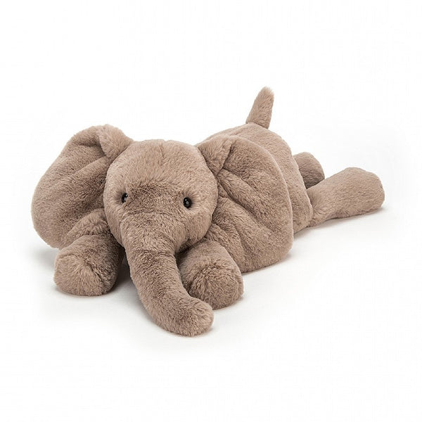 Jellycat Smudge elephant soft toy is so soft you cannot resist. A great cuddly toy for any child.