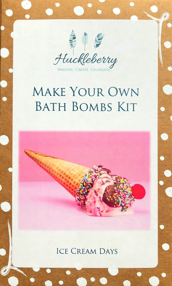 Huckleberry - Make your own Bath Bombs Kit - Ice Cream Days