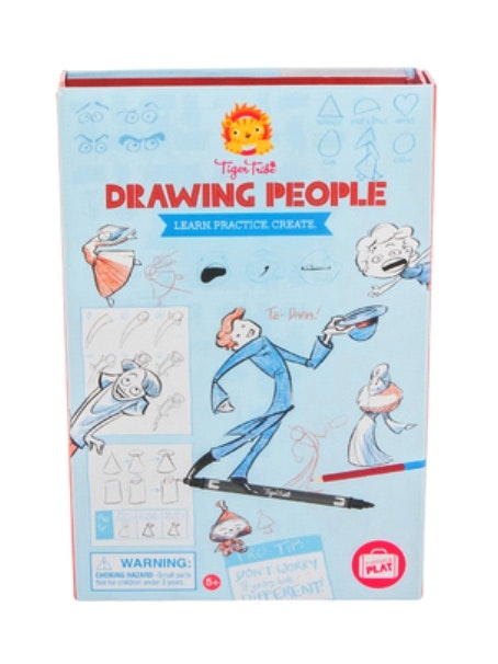 drawing-people-in-multi-colour-print