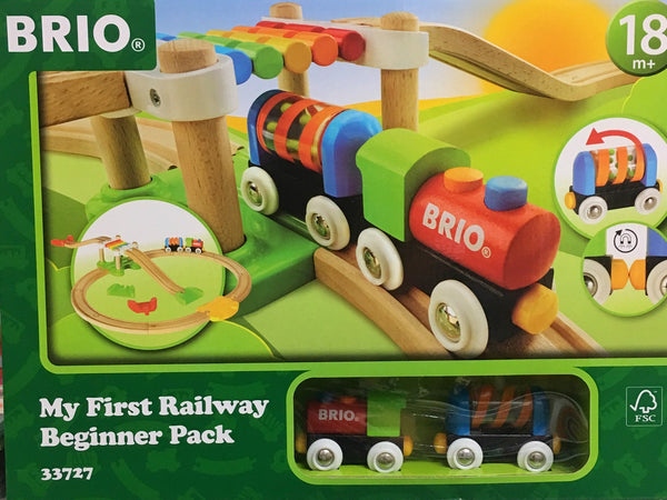 A great set for children aged 18 months +. Includes 18 pieces for imaginative play. Build your tracks in any layout & move your train around, around and down.