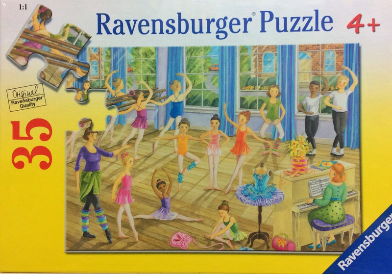 A fun puzzle featuring a lovely dance studio. Puzzle sizes 21 x 21 cm Box Size 27 x 19 x 3.5cm Recommended age 5 + Made from recycled board Made in Czech Republic