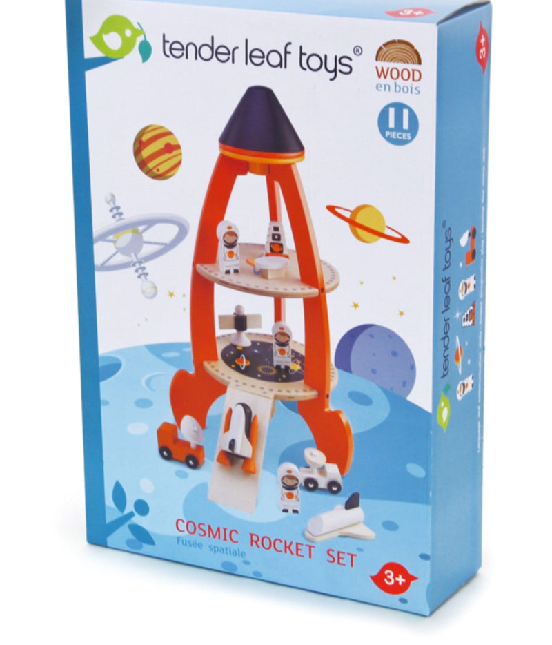 A wonderful 11 piece set for imaginative space travels. Recommended age 3+