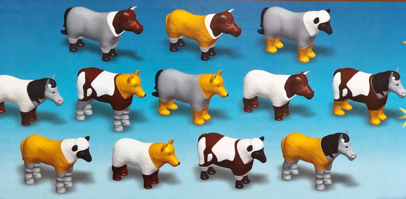 Popular Playthings - Magnetic Animals Farm  in multi colour print