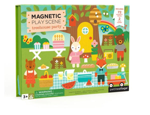 Petite Collage - Magnetic Play Scene, Treehouse Party