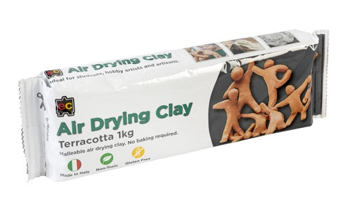 Air Drying clay 1 kg in terracotta for creative crafts. Recommended age 3+