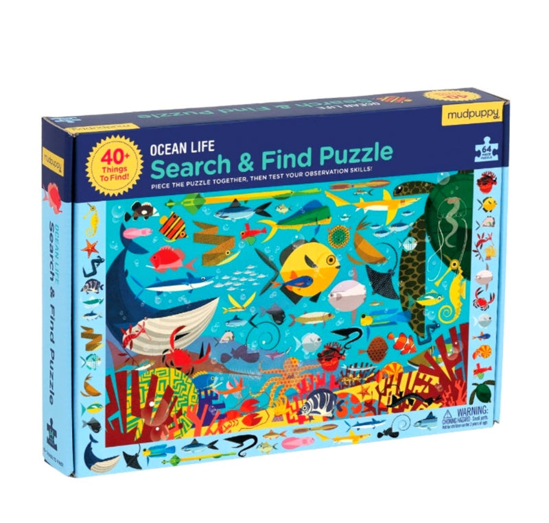 Ocean Life Search & Find Puzzle in multi colour print
