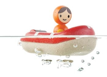 Plan toys wooden coast guard boat is a great interactive and imaginative toy for children age 1+