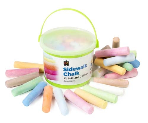 Chalk - Side walk chalk bucket 24 pieces