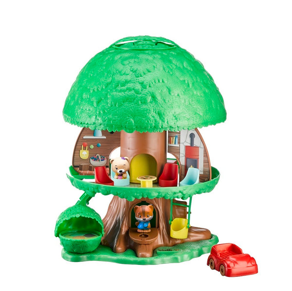 Vulli Klorofil Tree House is a fantastic portable toy for children age 3-8 years. Open up the tree house and children will receive hours of imaginative play.