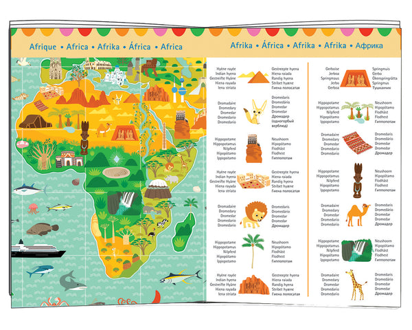 Djeco - Around the world 200 piece in multi colour print