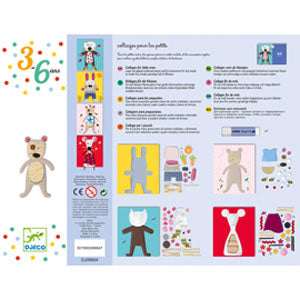 Djeco - Collage for little ones in multi colour print