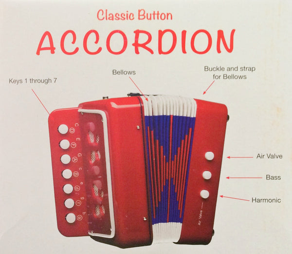 Accordian Classic Button - Blue in blue