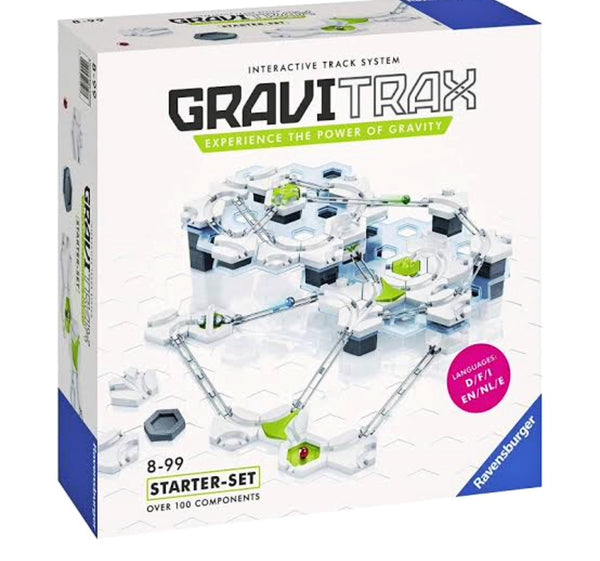 gravitrax-starter-set is a new marble run by ravensburger.  An exciting marble run for Children age 8 +. includes over 100 components. Experience the power of gravity