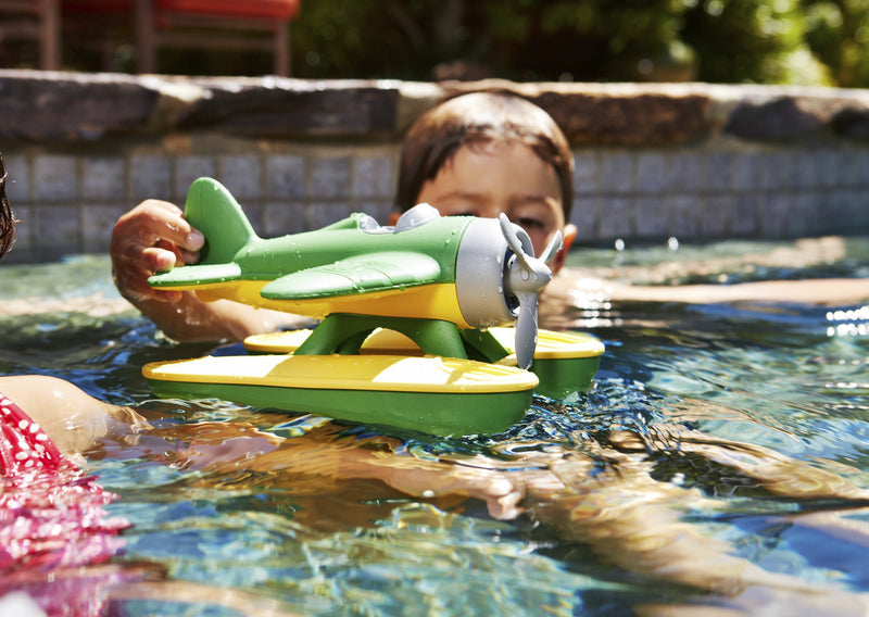 Green Toys Seaplane in multi colour print