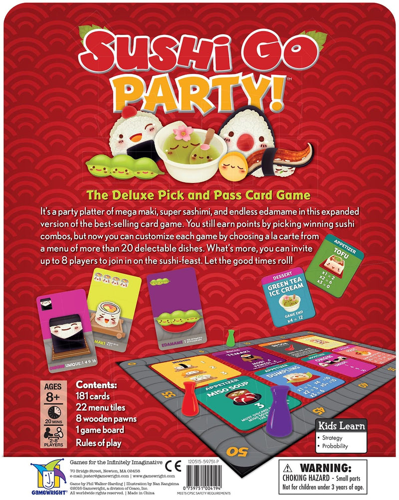 Gamewright - Sushi Go Party in multi colour print