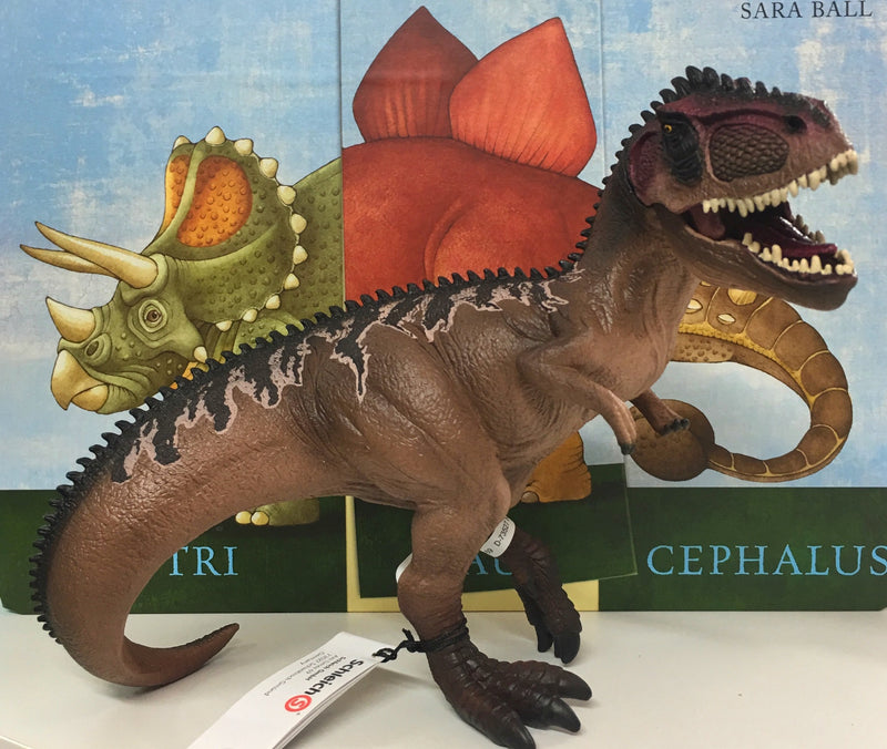 A wonderful new Dinosaur in the Schleich series Great brown colours and moveable mouth Encourages imaginative play Recommended ages 4-12 years Size 20cm , height 17cm, width 9.5 cm