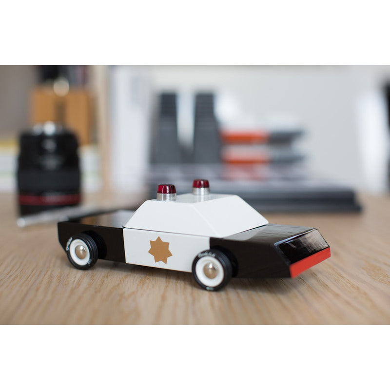 Candylab Toys Police Cruiser Toy Car in black