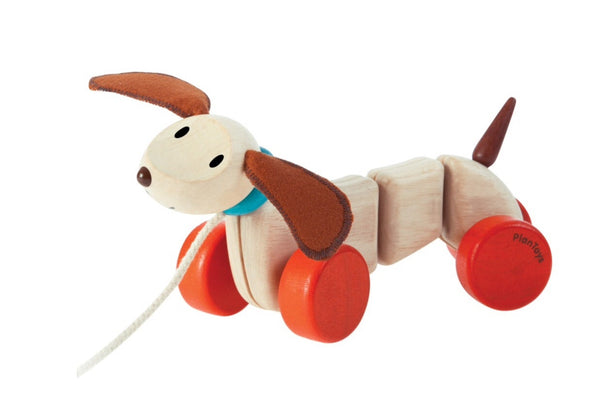 Plan Toys - Happy Puppy in wood