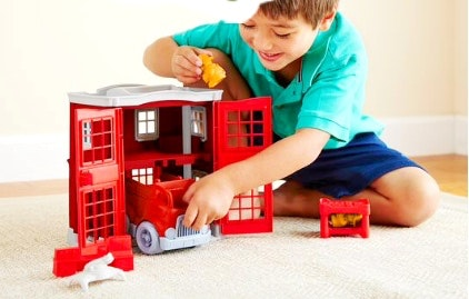 Green Toys - Fire Station Play Set