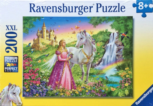 princess-with-a-horse-200-piece-in-multi-colour-print