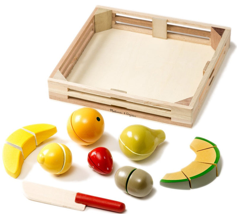 Melissa & Doug - Wooden Cutting Fruit Set