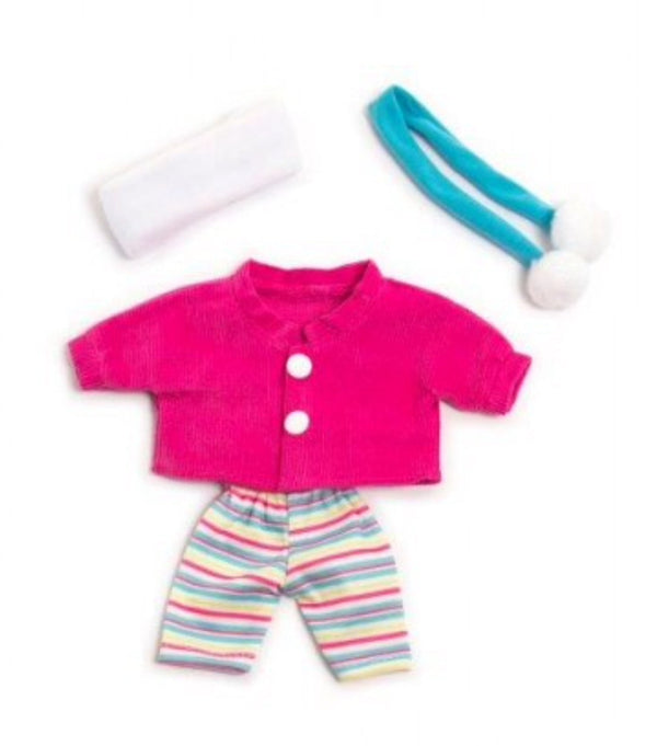 miniland-clothing-21-cm-doll-2-piece-outfit-in-multi-colour-print