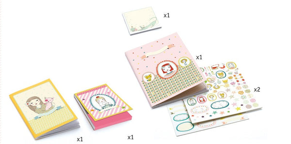 Rosalie Stationery Set in multi colour print